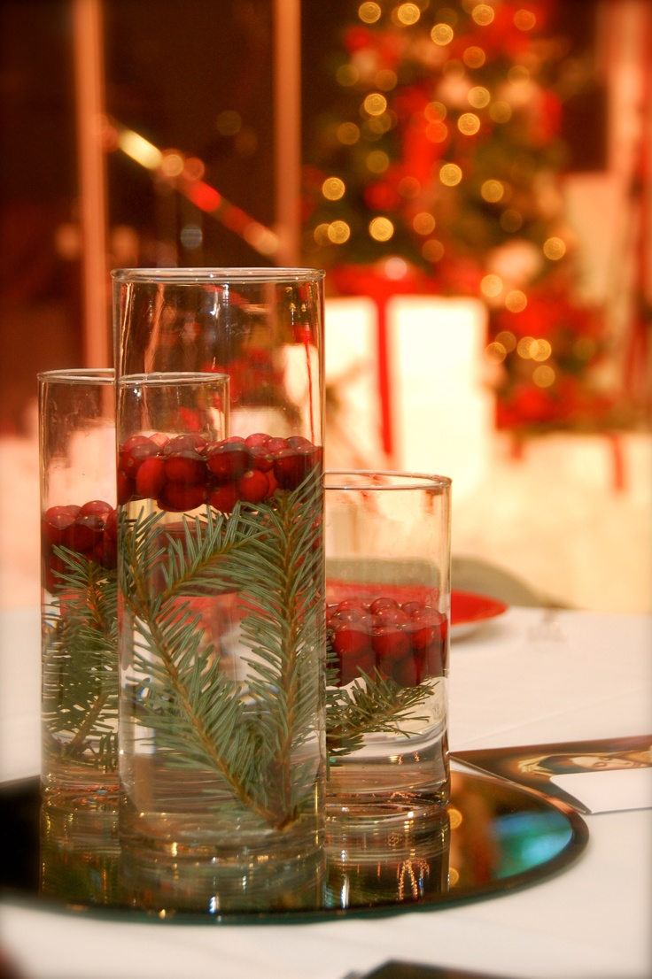 Easy christmas centerpiece holidays pinterest
