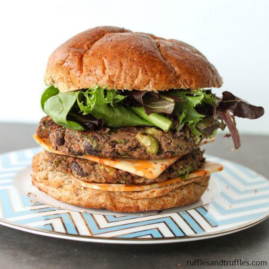 spicy black bean edamame burger | Things I'm GONNA make! | Pinterest