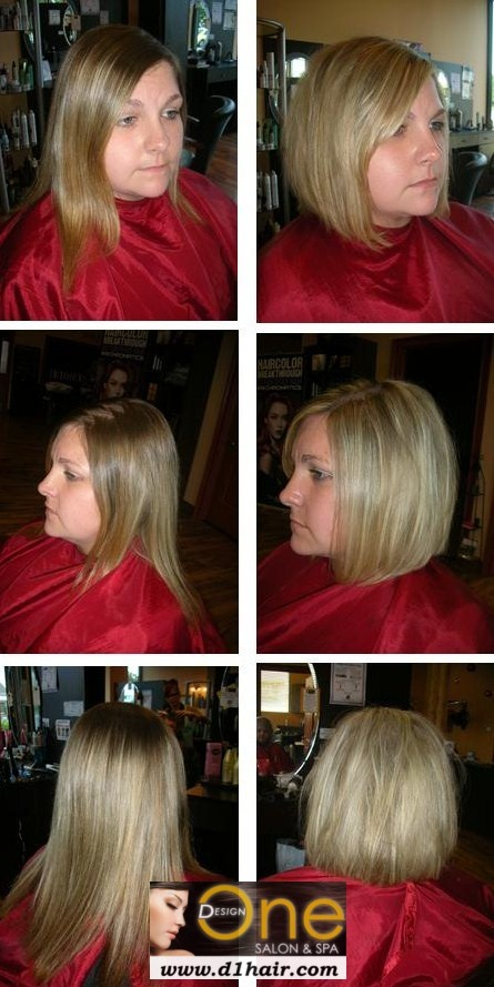 Before and After Lob Haircut | Bangs | Pinterest