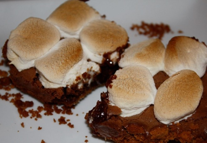 brownie bars raspberry truffle brownie bars white chocolate s mores ...