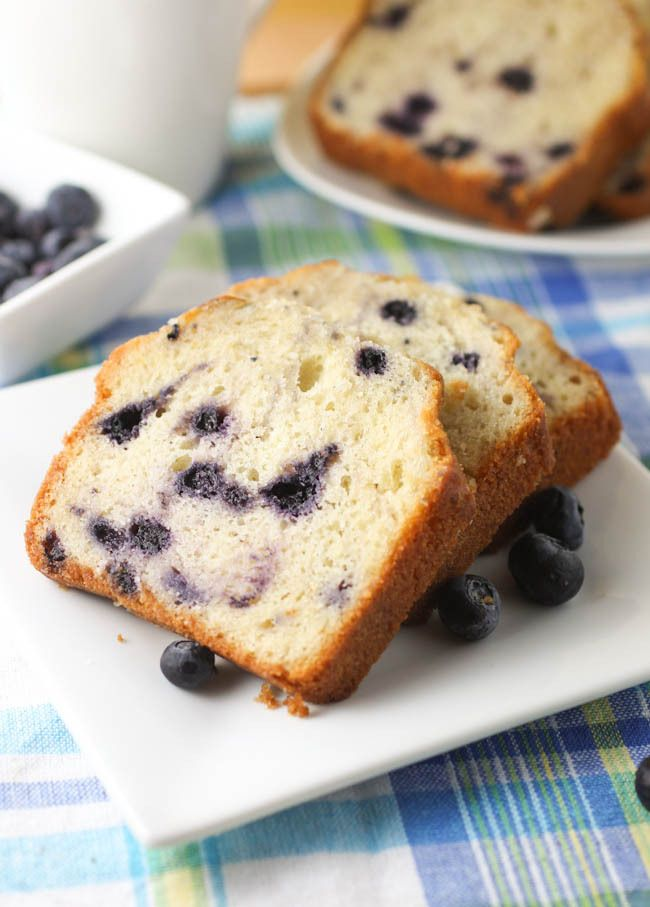blueberry pound cake | Deserts and other fattening snacks | Pinterest