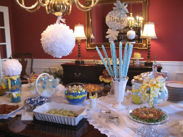 Our Buffet Table Baby Shower Ideas Pinterest