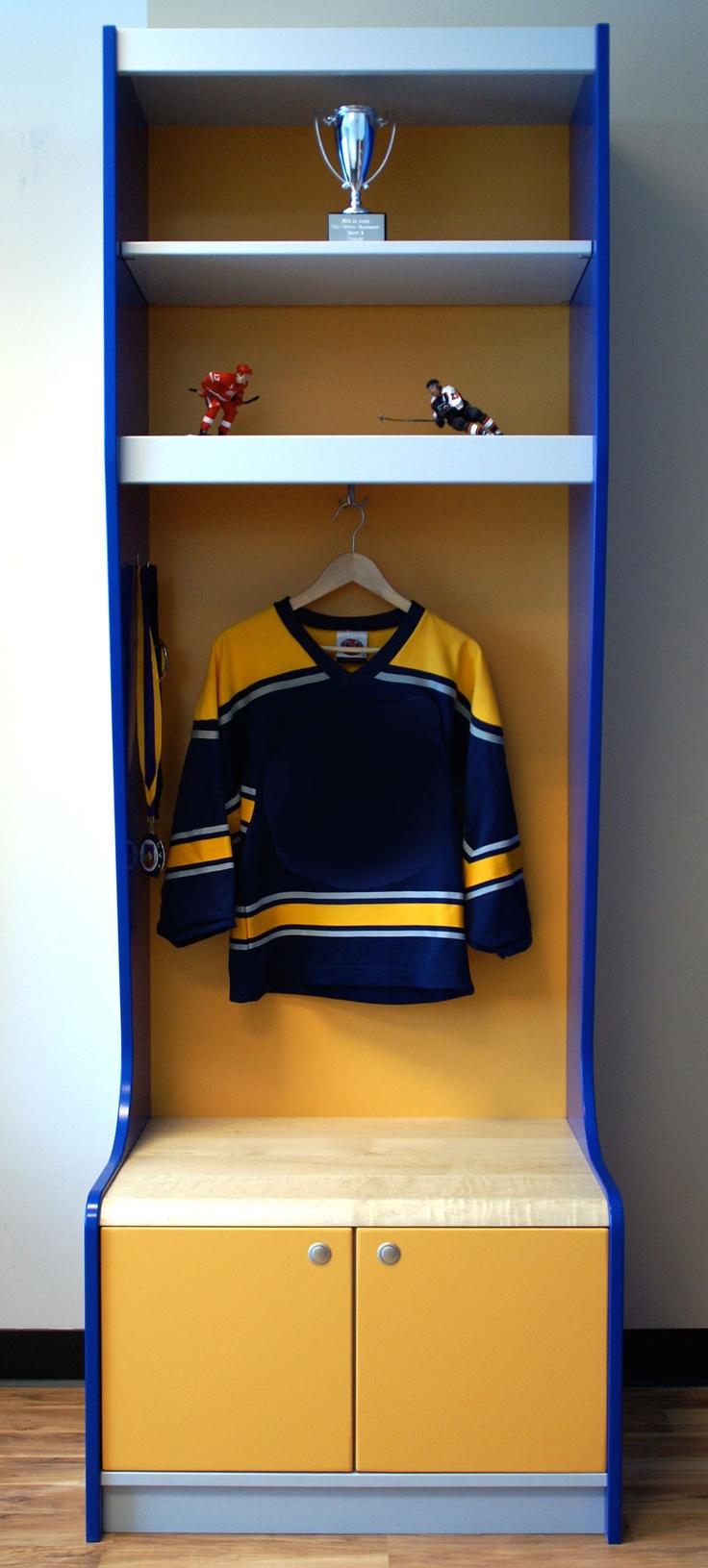 Comsports Locker For Kids Room : Sport Locker- Yellow, Grey and Blue Sport locker for your kids room ...