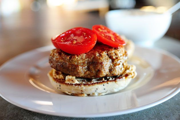 Turkey Bagel Burgers | Recipe