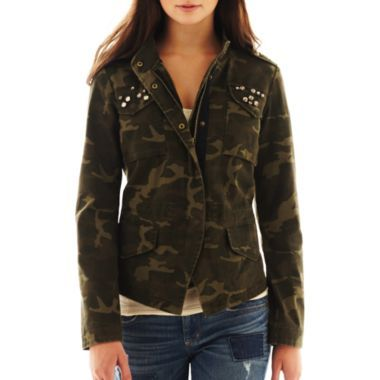 Studded camo jacket from J.C. Penney