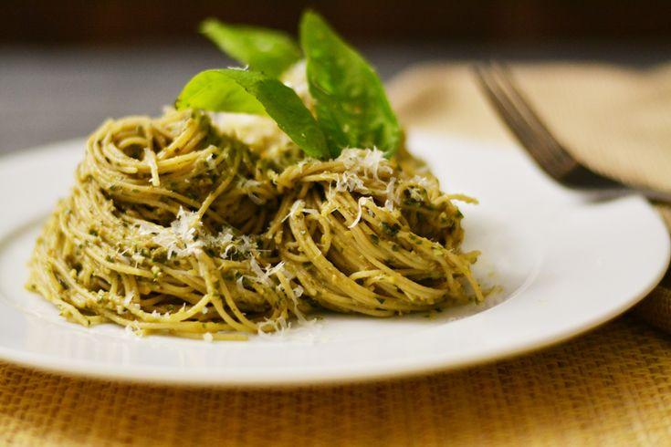 Artichoke Basil Pesto Pasta | KneadForFood - Food Blog Recipes