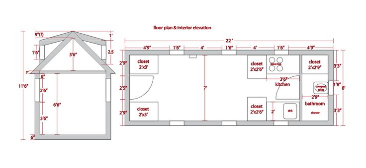 The Tumbleweed Linden Tiny House Floor Plan Trend Home