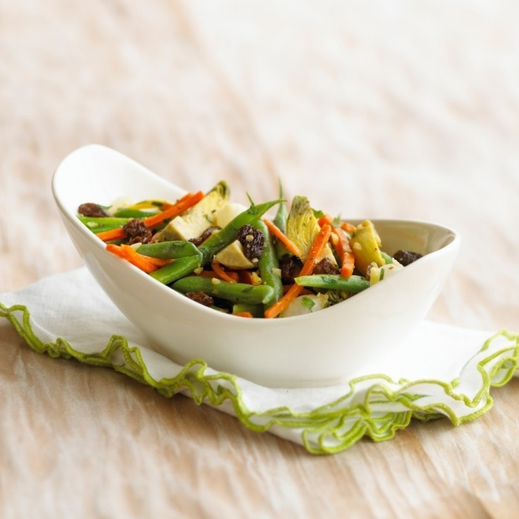 Raisin Vegetable Sauté - A quick sauté of spring vegetables with ...
