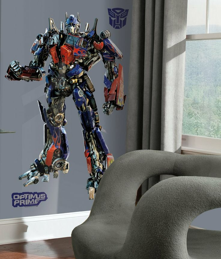 transformers optimus prime wall decal boy s room pinterest