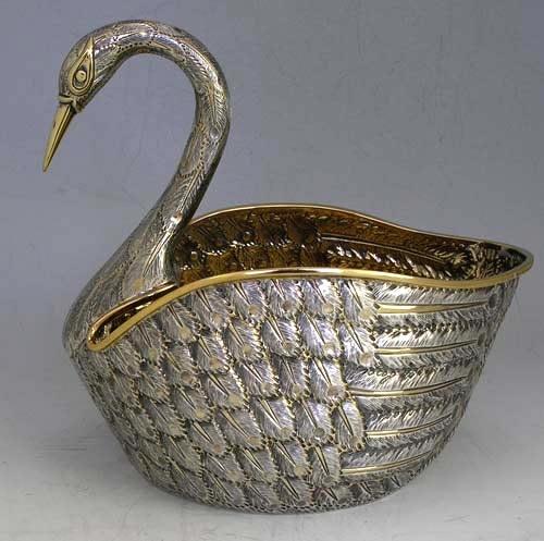 Tane sterling swan centerpiece
