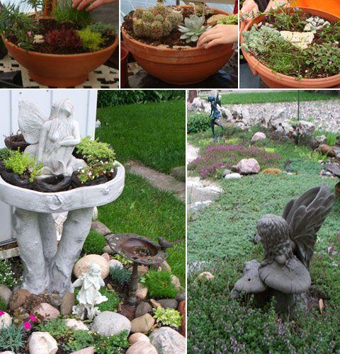 Container Fairy Garden Ideas Photograph Found On Lawnkingn