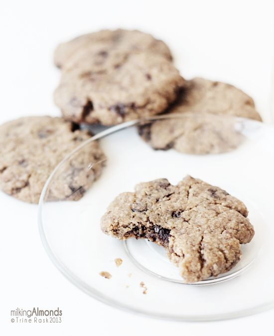 The Perfect Soft & Chewy Chocolate Chip Almond Cookies | Milking ...