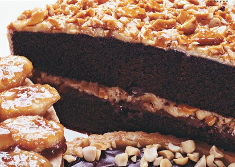 Milk Chocolate-Peanut Butter Frosting and Peanut Butter Brittle Peanut ...