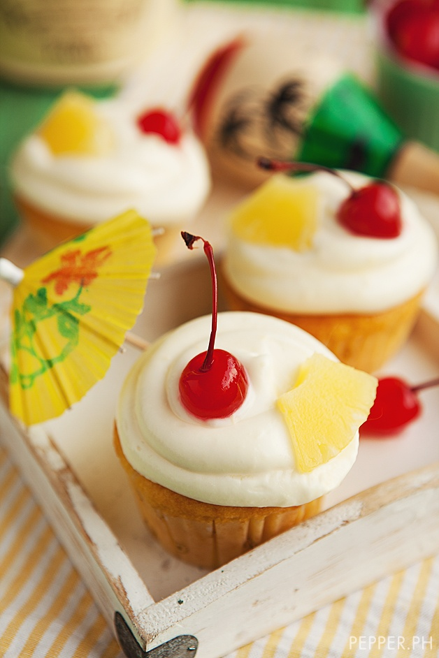 Piña Colada Cupcake with Spiked Cream Cheese Frosting: Boracay in a ...