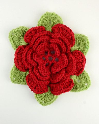 Picture of Free Wild Irish Rose Pattern Crochet Pinterest