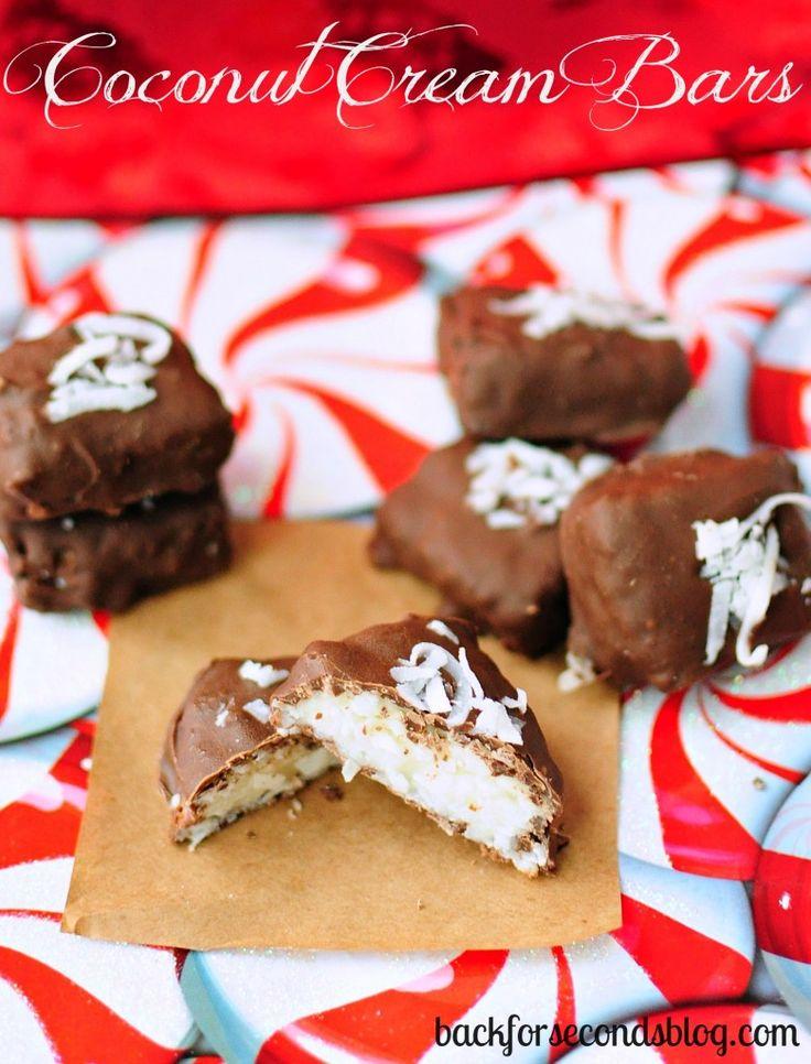 NO BAKE 4 Ingredient Coconut Cream Bars - Tastes just like ...