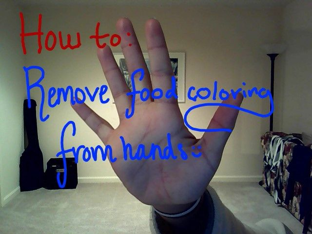 how to remove food dye from hands