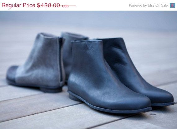 Boots 50 Off SALE New black ankle bootie shoes by WalkByAnatDahari