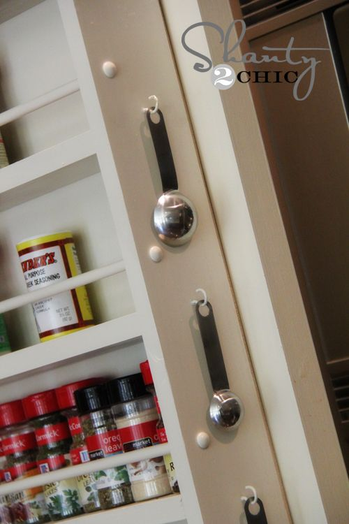 diy spice rack for the pantry door house into a home