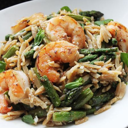 Shrimp with Orzo and ASparagus | Recipes | Pinterest
