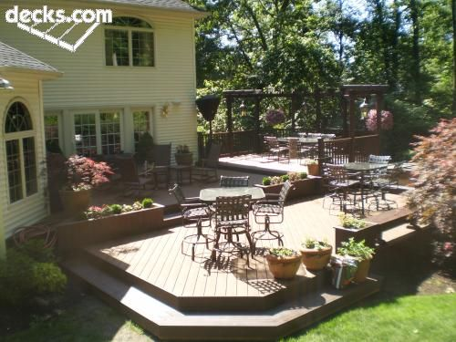 Multi Level Deck Picture Gallery Yard Garden Ideas