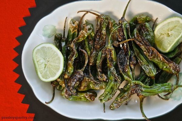 Grilled Shisito Peppers On A Stick Recipe — Dishmaps
