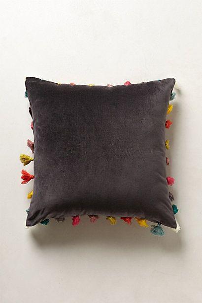 firenze velvet tassel pillow. Black Bedroom Furniture Sets. Home Design Ideas