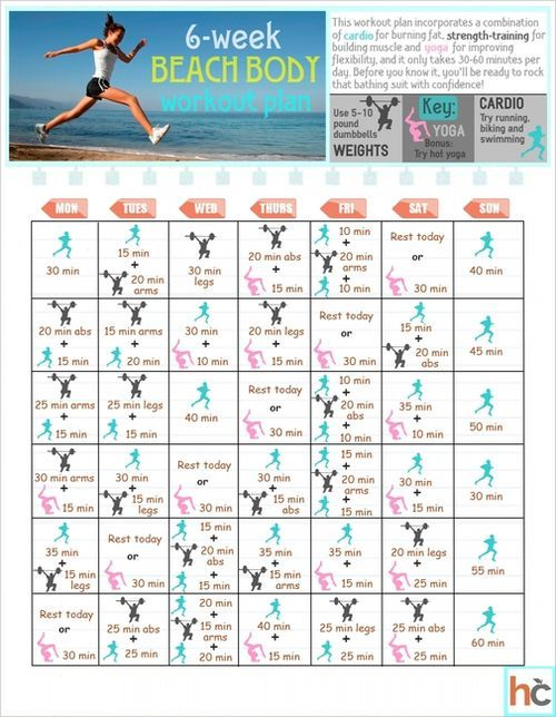 Six week diet plan and exercise