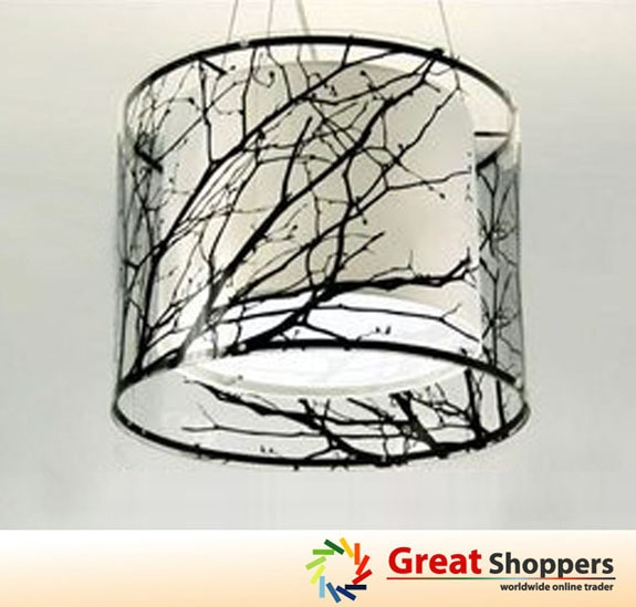 New modern branch tree stick ceiling lighting pendant lamp - Tree branch light fixture ...