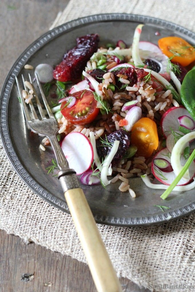 Wild Rice Salad with Fennel, Blood Orange, Radish, Spring Onions and ...