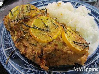 Speedy Noms: Lemony Hummus-Crusted Chicken