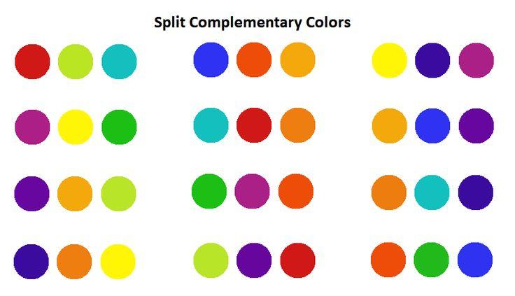 Split Complementary Color Sets Art Lessons Pinterest