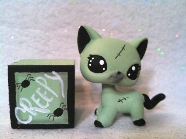Creepy franken cat my custom lps littlest pet shop pinterest