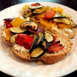 California Grilled Veggie Sandwich Allrecipes.com Nom, nom, nom, nom.