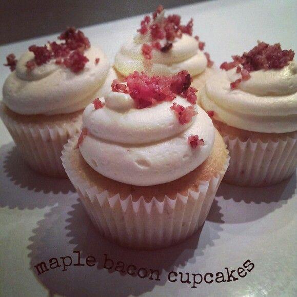 Maple Bacon Cupcakes Recipe — Dishmaps