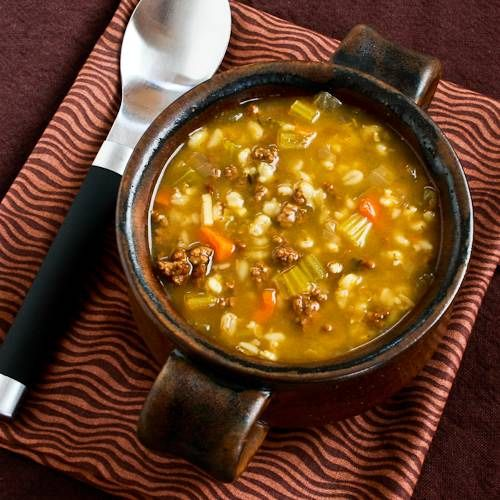 Recipe for Comforting Ground Beef and Barley Soup [Visit the Blog for ...
