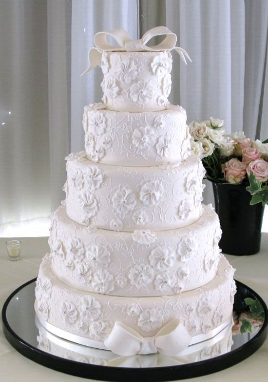 Wedding Cake Designed After A Monique Lhuillier Gown Photography By