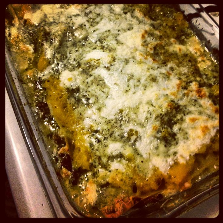 Butternut squash and pesto lasagna | foods | Pinterest