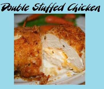 Double Stuffed Chicken- Not your everyday chicken dish! Stuffed with ...