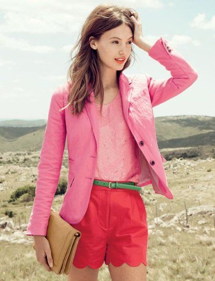 Perfect mix of linen, sequins and patent leather: J.Crew catalog, March 2012