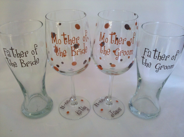 Wedding Gift Ideas For Parents Of Groom : Wedding gifts for parents of the bride and groom. 4 Personalized ...