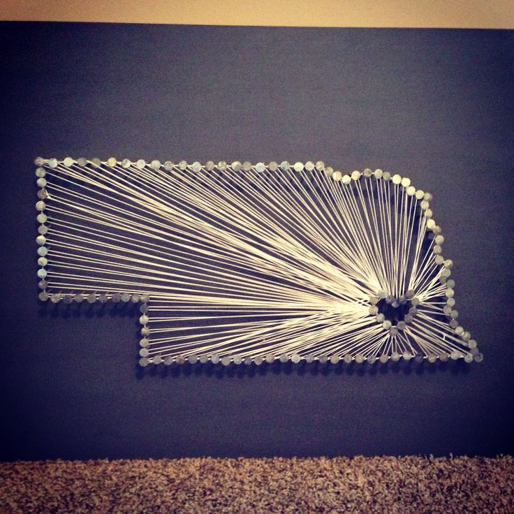 My Nebraska String Art Creation Stringart Nebraska Lincoln Diy Gbr Pinterest