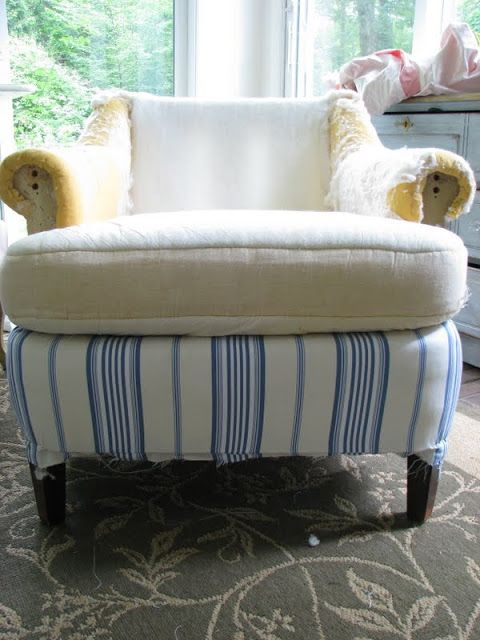 Modern Striped Chair- And So It Begins | threeboys.net
