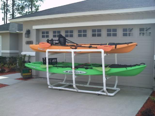 ideas for storing kayaks in garage - DIY PVC Kayak Rack General