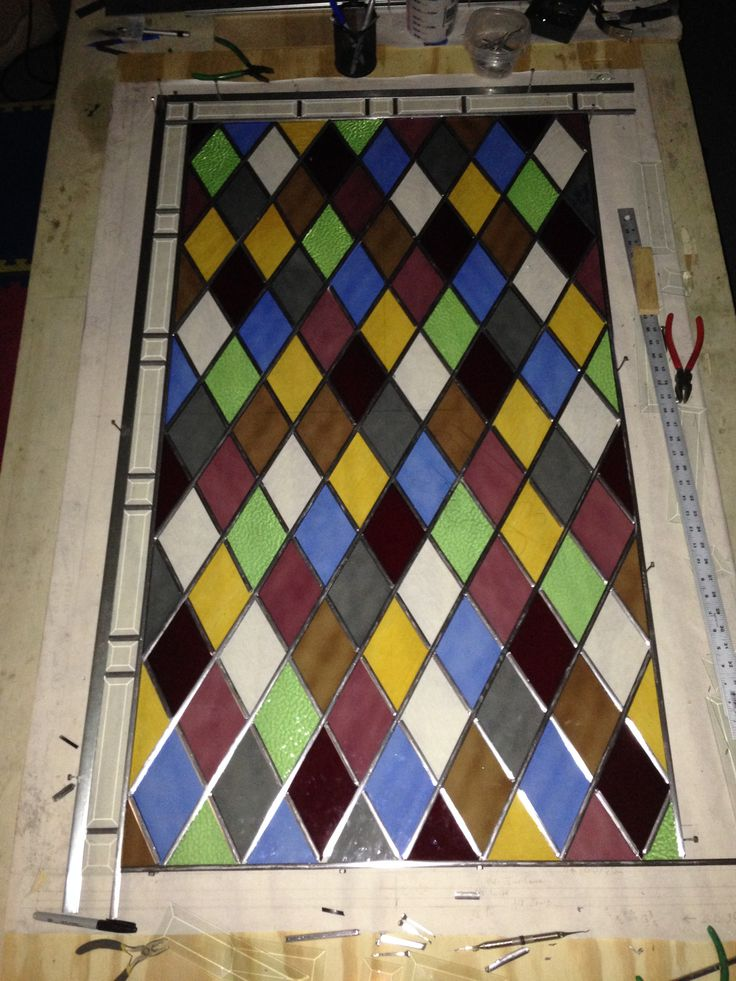 Picture window arts and crafts style stained glass pinterest