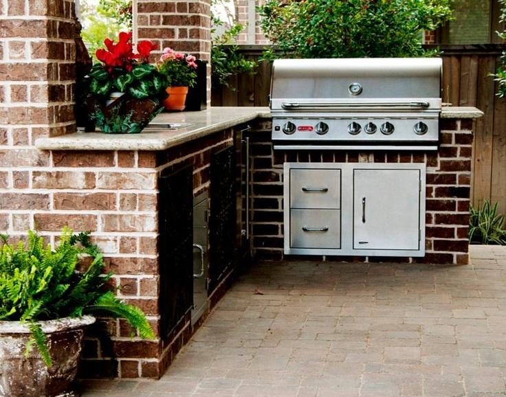 outdoor grill kitchen area backyard pinterest. Black Bedroom Furniture Sets. Home Design Ideas