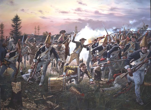 "... Redoubt - Battle of Saratoga"" Don Troiani Revolutionary War Pri"