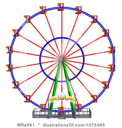carnival ferris wheel clip art | Ferris Wheel Clipart #1075355 by ...