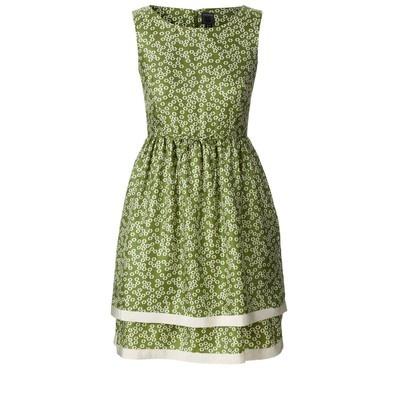 Daisy meadow silk twill sleeveless dress by Orla Kiely
