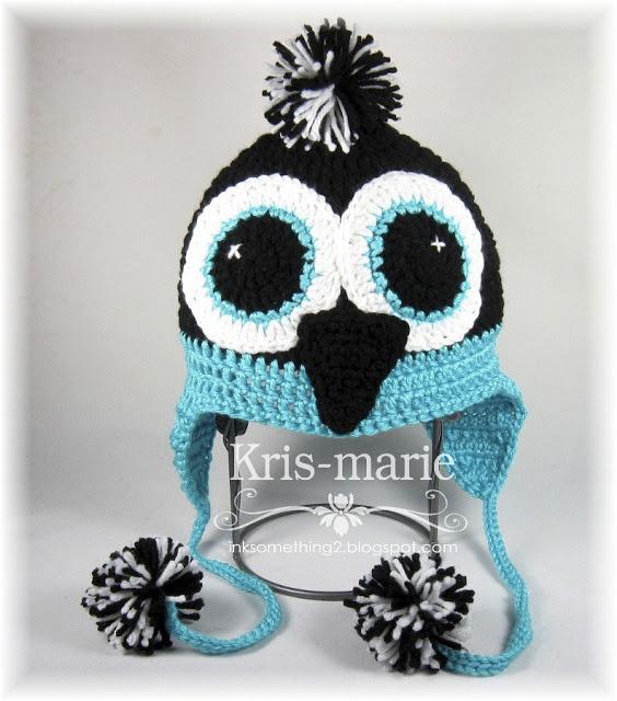 free penguin crochet hat pattern